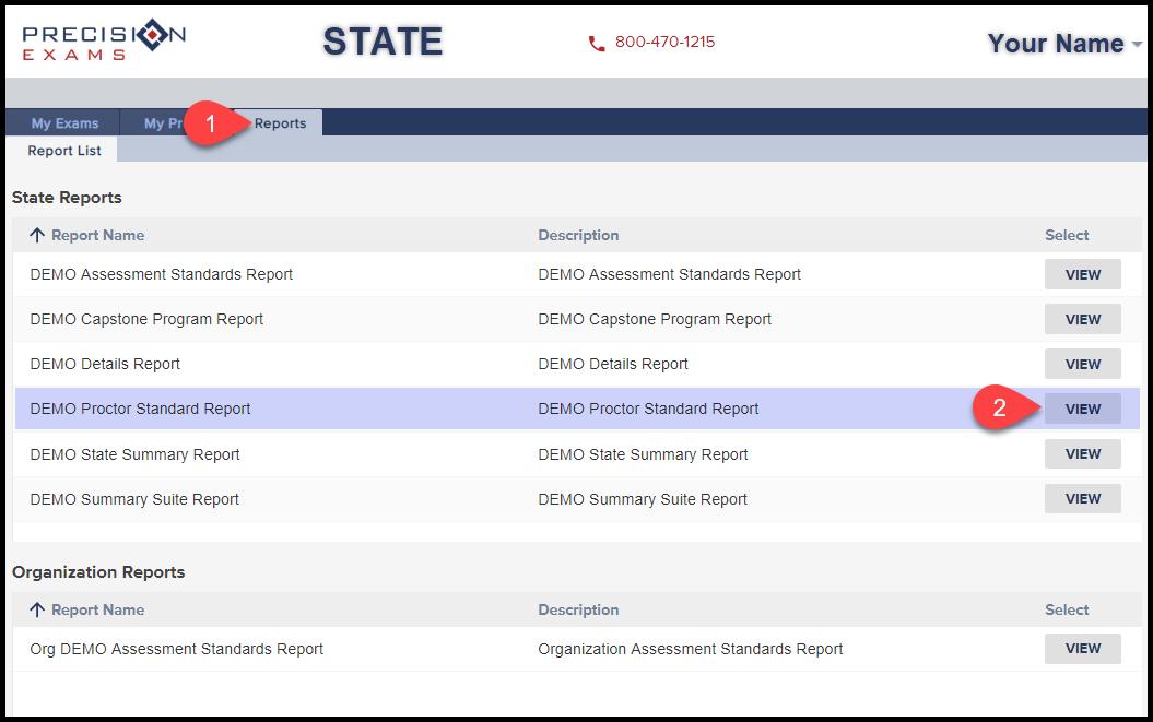 001 Proctor Standards Report
