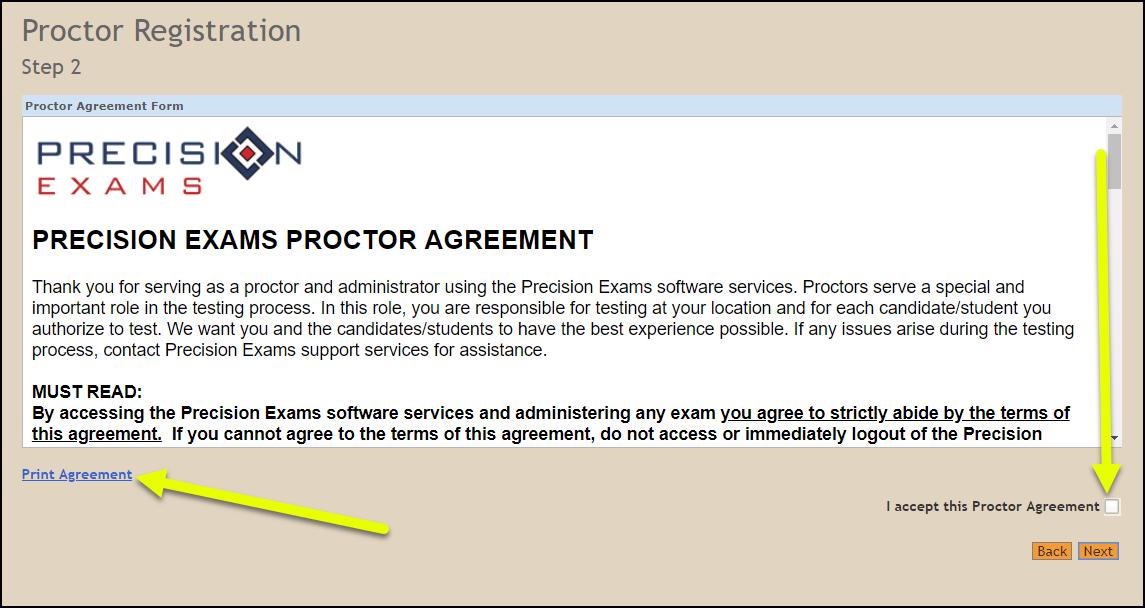 Proctor Registration 0102